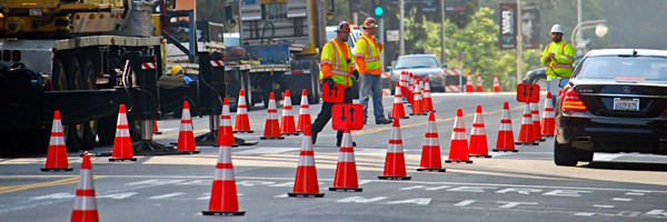 traffic safety barricade management