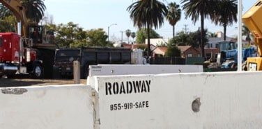 Protecting a Los Angeles job site and the public with K-rail
