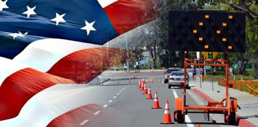 Roadway Construction Service Performs 4th of July Balancing Act