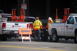 Traffic Control flaggers
