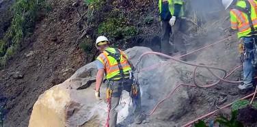Caltrans Maintenance – Explosive Boulder Removal!