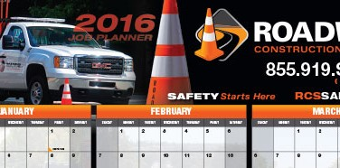 Roadway Construction Service 2016 wall calendar now available