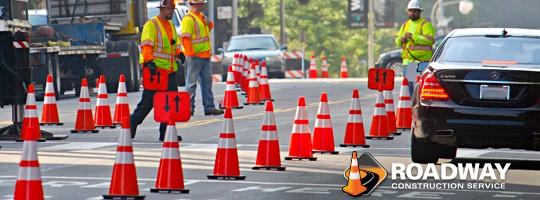 roadway traffic control cones