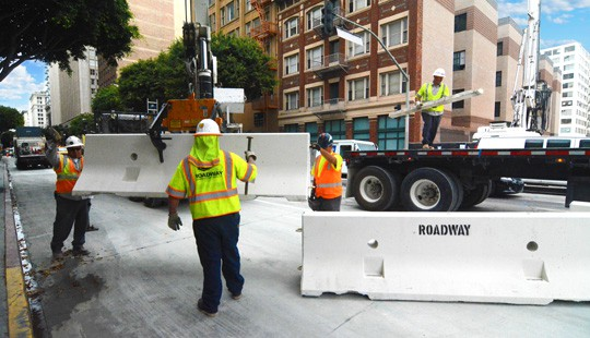 Jersey Barrier K-Rail Rental and Installation