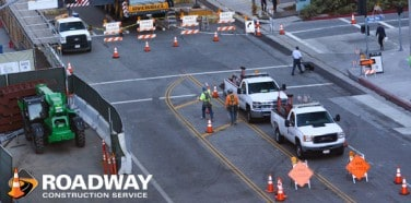 Schedule Traffic Control Services with Roadway Construction Service